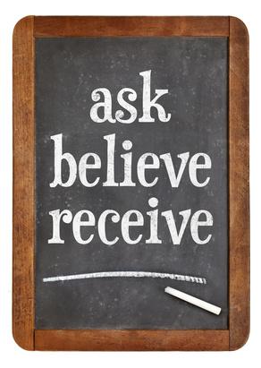 Ask, believe, receive on blackboard